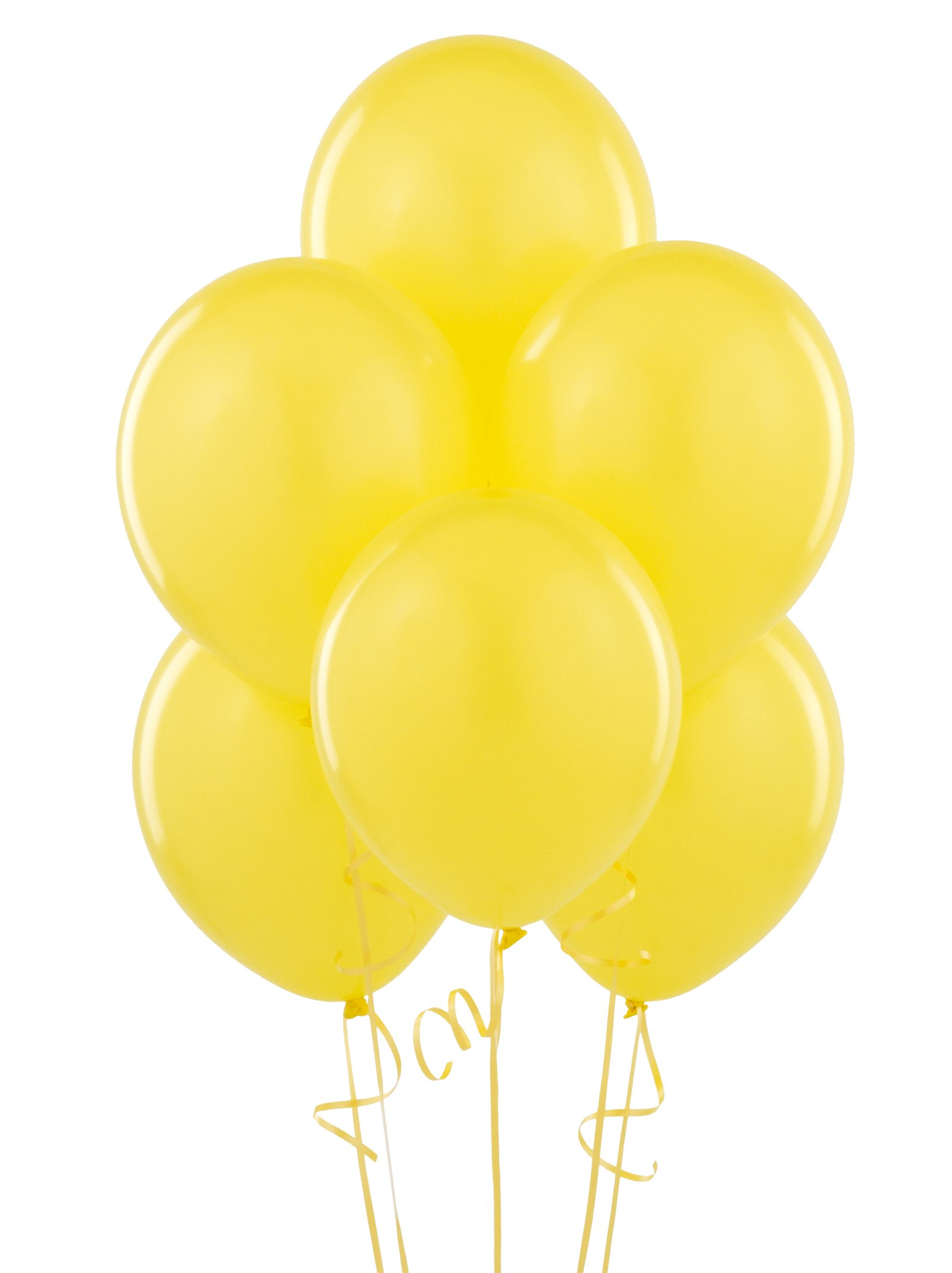 "Yellow 11"" Matte Balloons (6 count)"