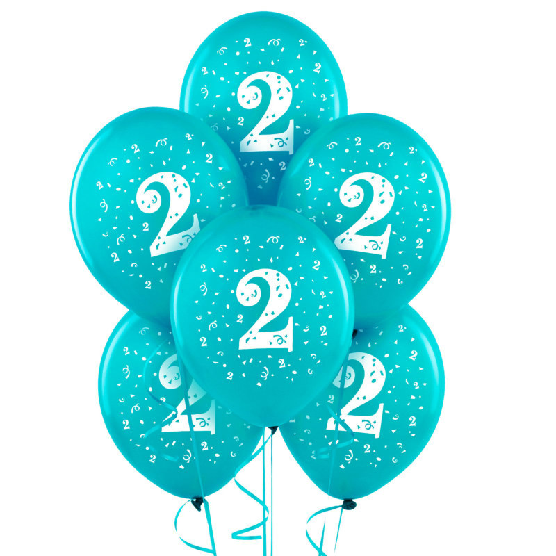 "#2 Turquoise 11"" Matte Balloons (6 count)"