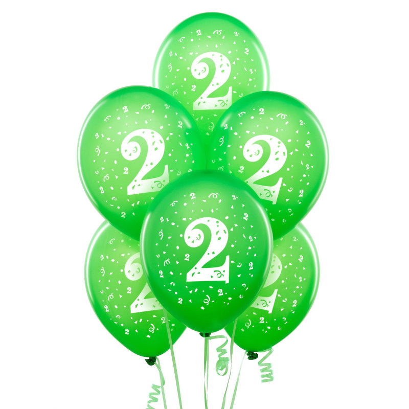 "#2 Pearl Lime Green 11"" Matte Balloons (6 count)"