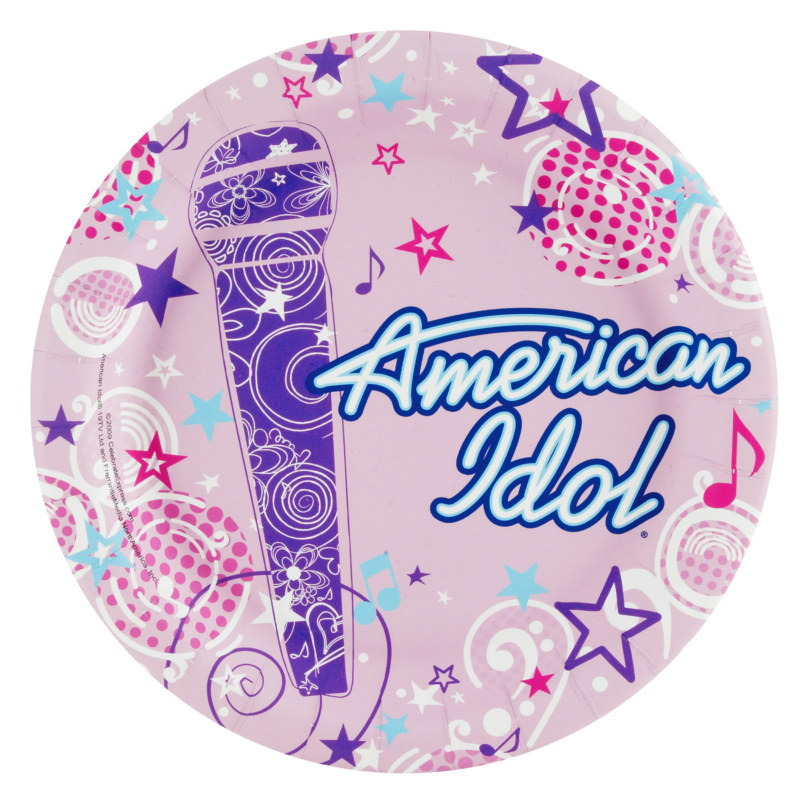 American Idol 3-D Dessert Plates (8 count)