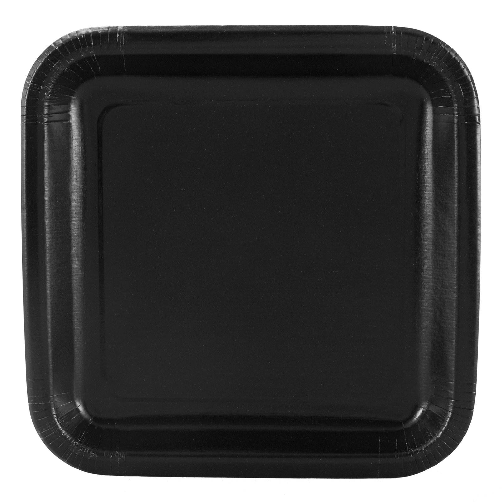 Black Square Dessert Plates (12 count)