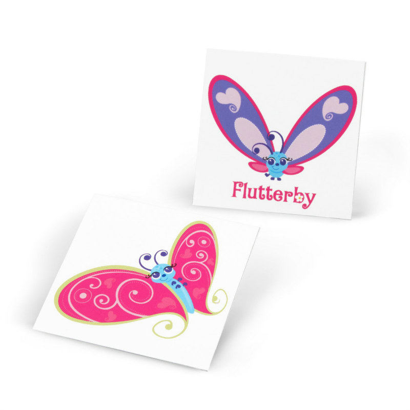Flutterby Butterflies Tattoos (8 count)