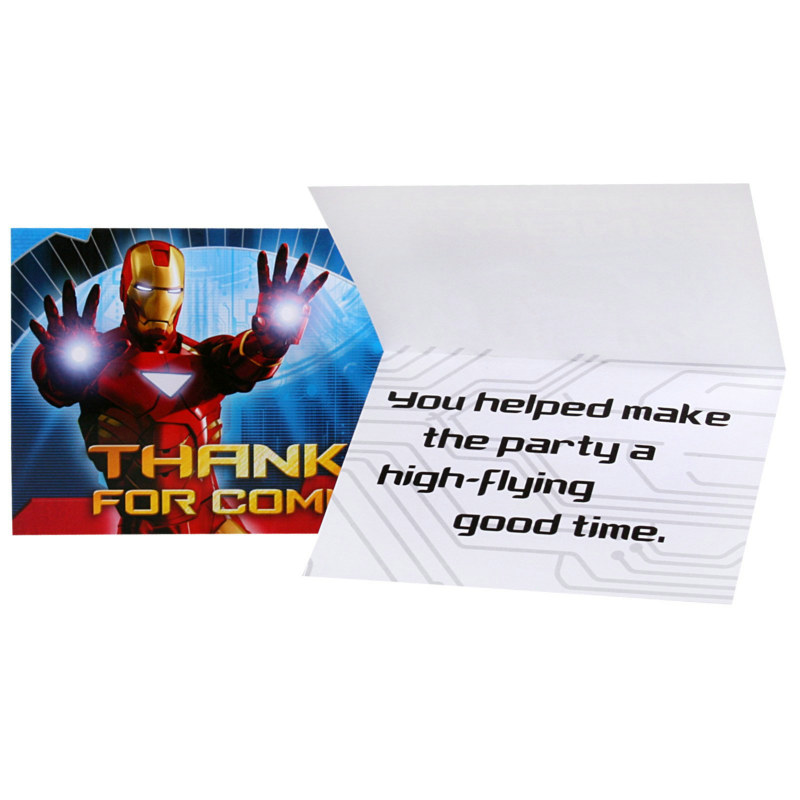 Iron Man 2 Thank You Cards (8 count)