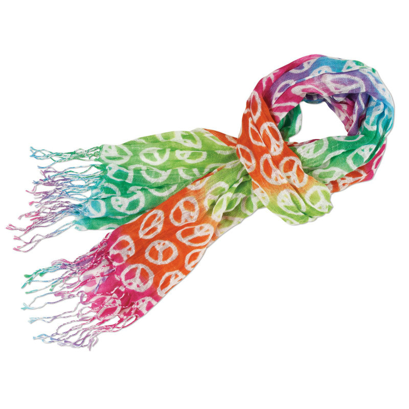 Rainbow Peace Sign Scarf