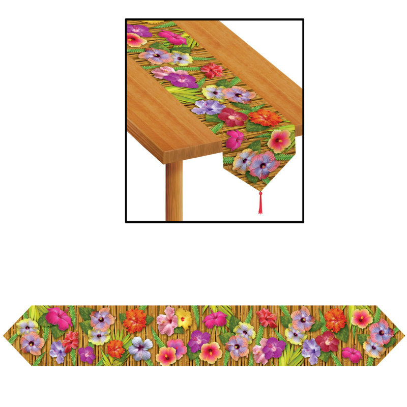 Printed 6' Luau Table Runner