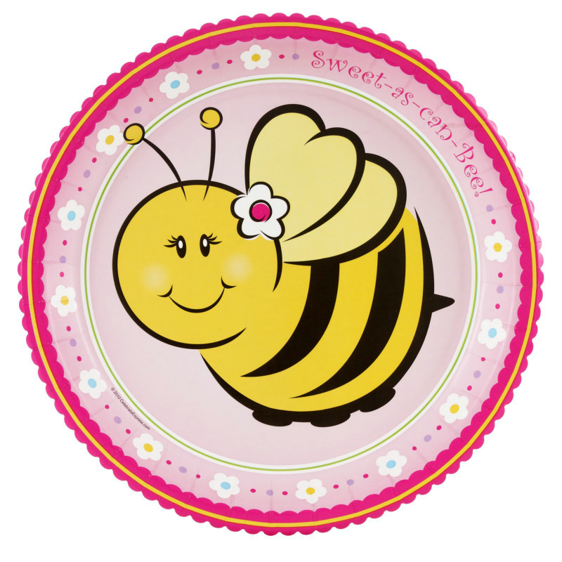 Sweet-As-Can-Bee Dinner Plates (8 count)