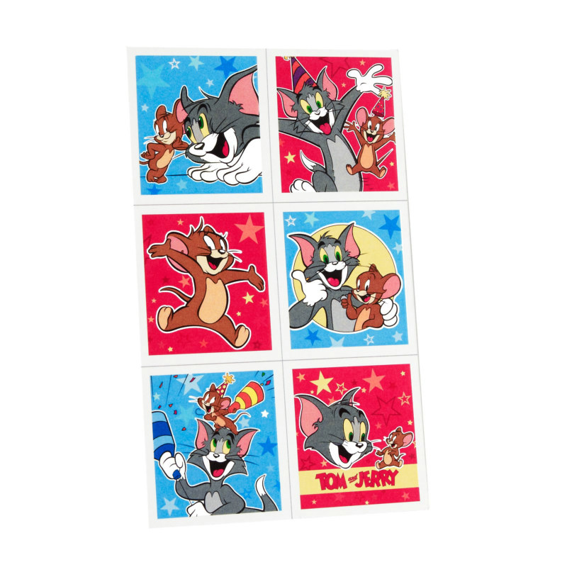 Tom and Jerry Sticker Sheets (4 count)