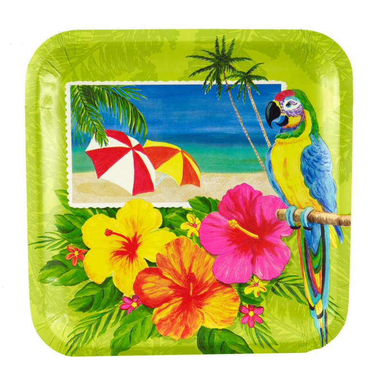 Tropical Vacation Dinner Plates (8 count)