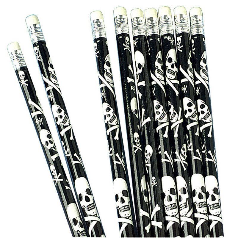 Skull and Crossbone Pencils (12 count)