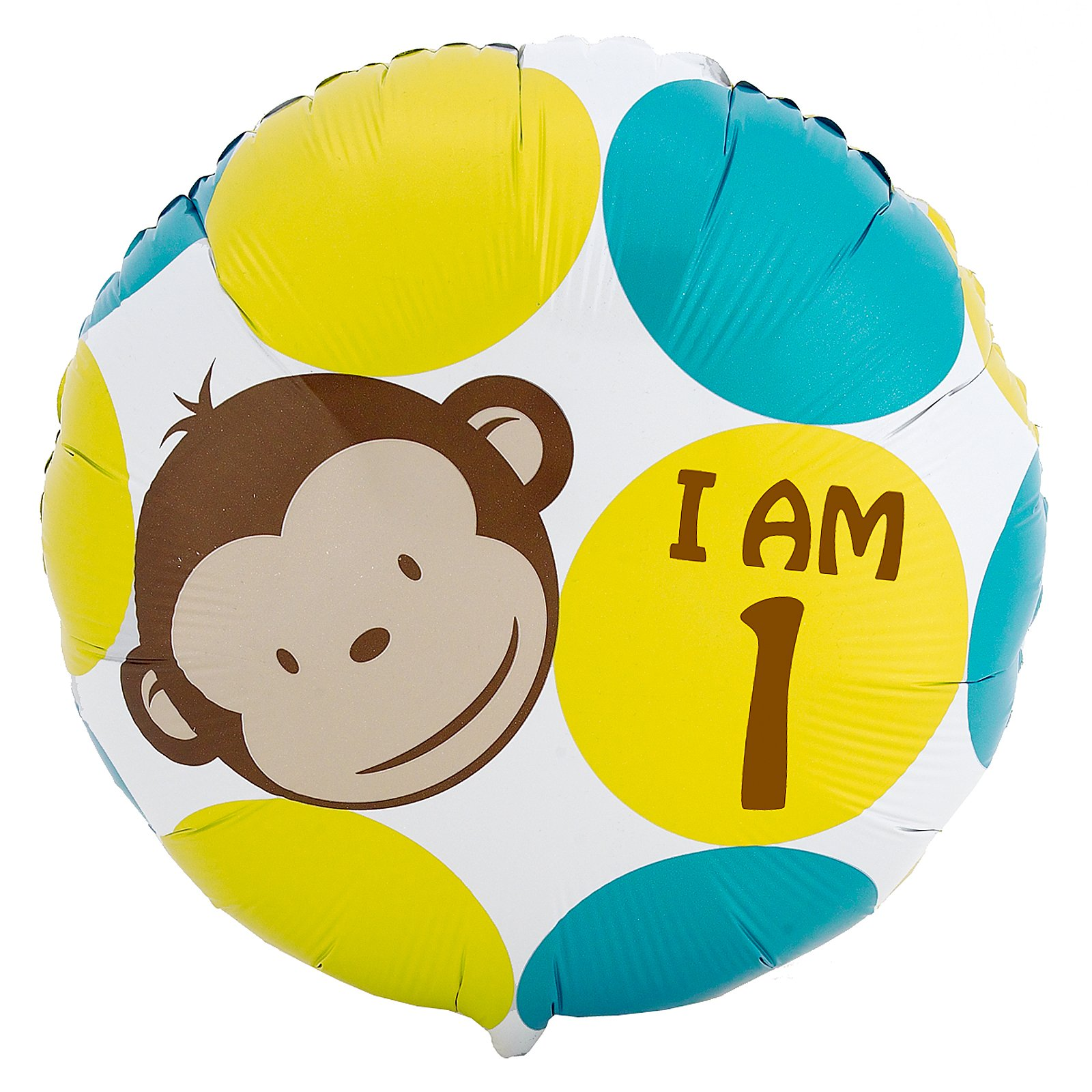 "Mod Monkey I am 1 - 18"" Foil Balloon"