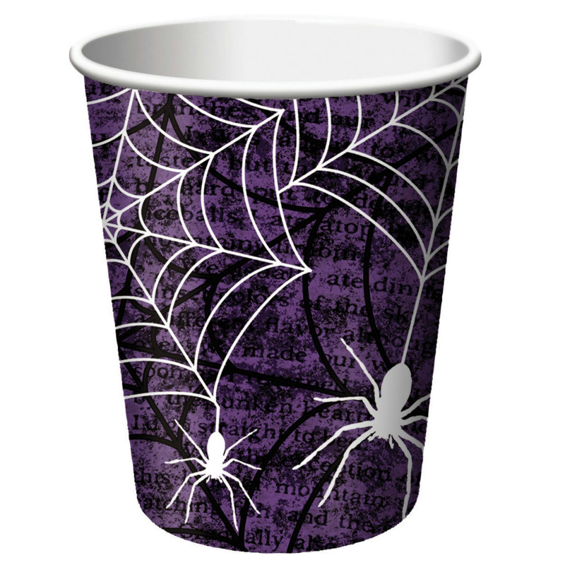 Creepy Webs 9 oz. Cups (8 count)