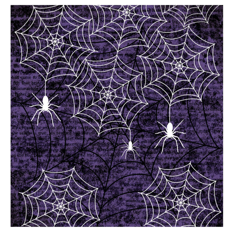 Creepy Webs Plastic Tablecover