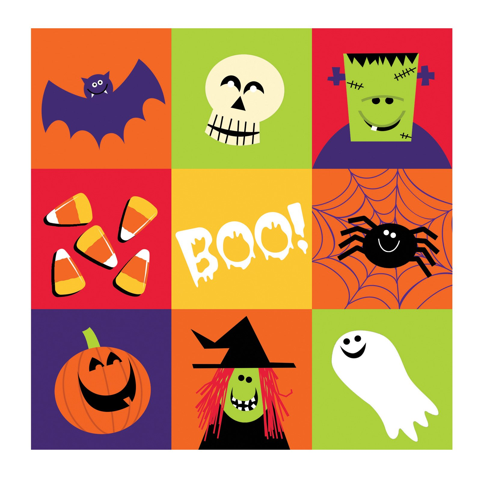 Halloween Fun Friends Lunch Napkins (16 count)