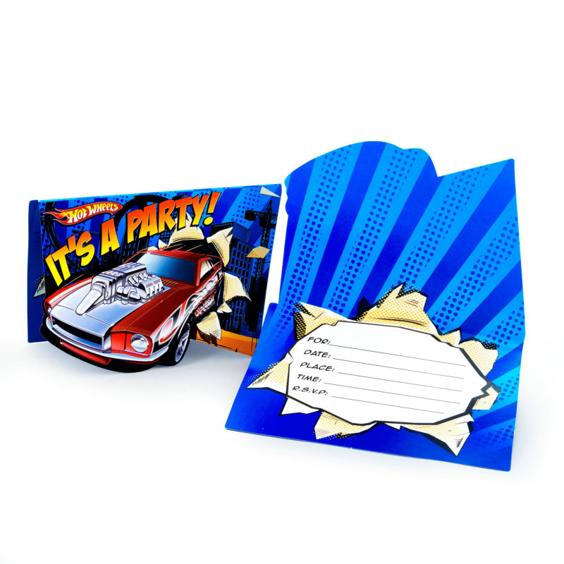Hot Wheels Speed City Invitations (8 count)