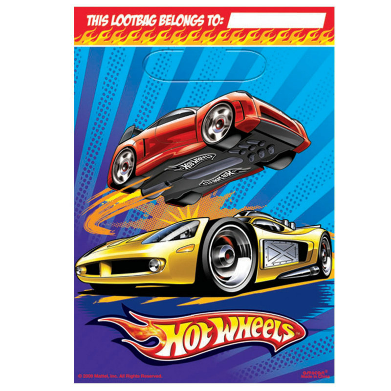 Hot Wheels Speed City Treat Bags (8 count)