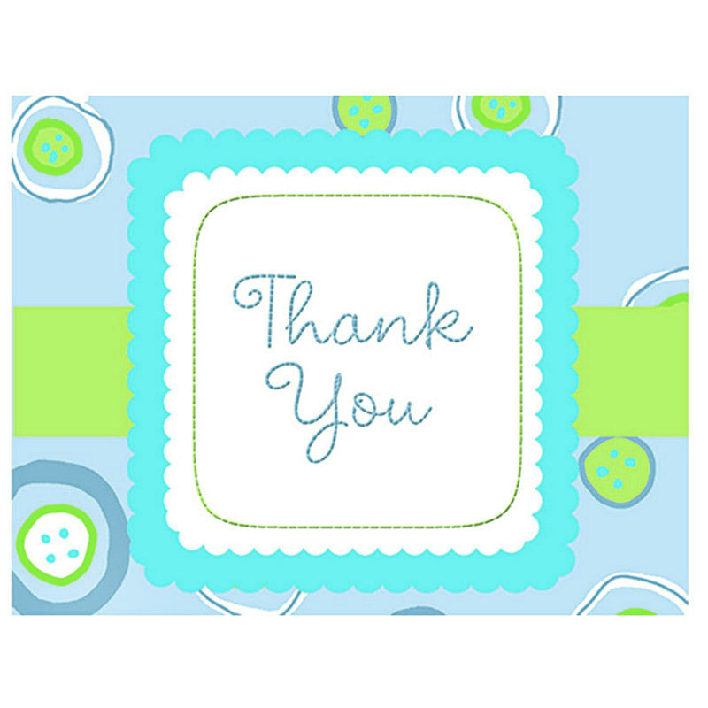Blessed Baby Boy Thank You Cards (8 count)