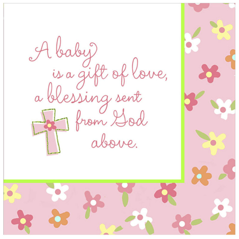 Blessed Baby Girl Lunch Napkins (16 count)