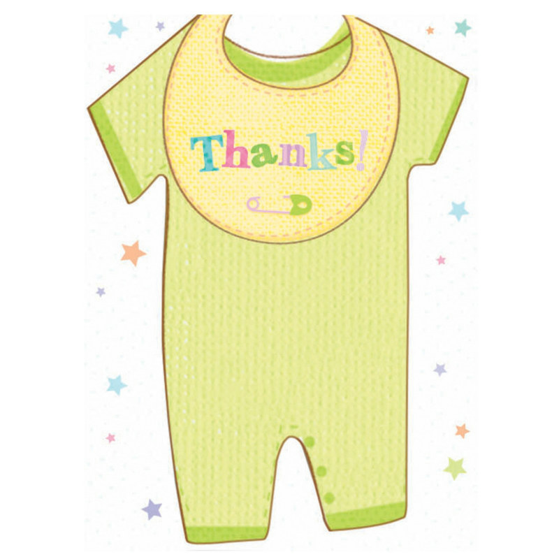 Cuddly Clothesline Thank You Cards (8 count)