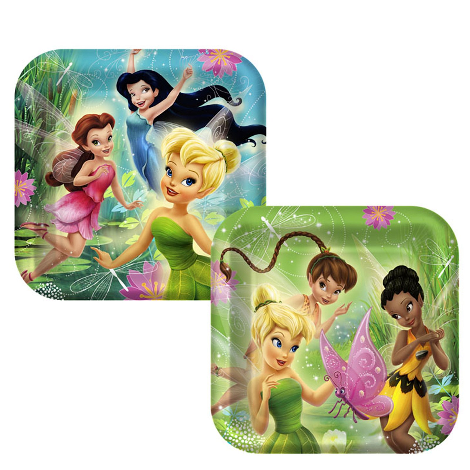 Disney's Fairies Square Dinner Plates Assorted (8 count)