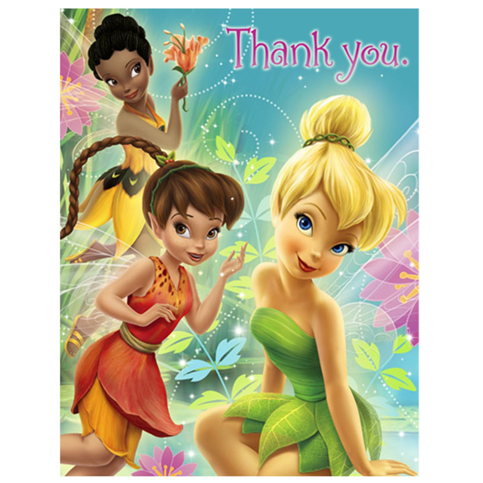 Tinker Bell and the Fairies Thank You Cards (8 count)