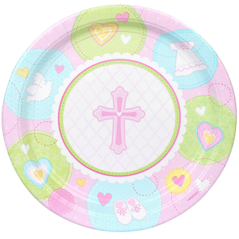 Sweet Blessing Pink Dessert Plates (8 count)
