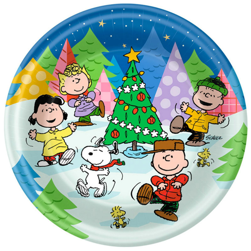Peanuts Christmas Dinner Plates (8 count)