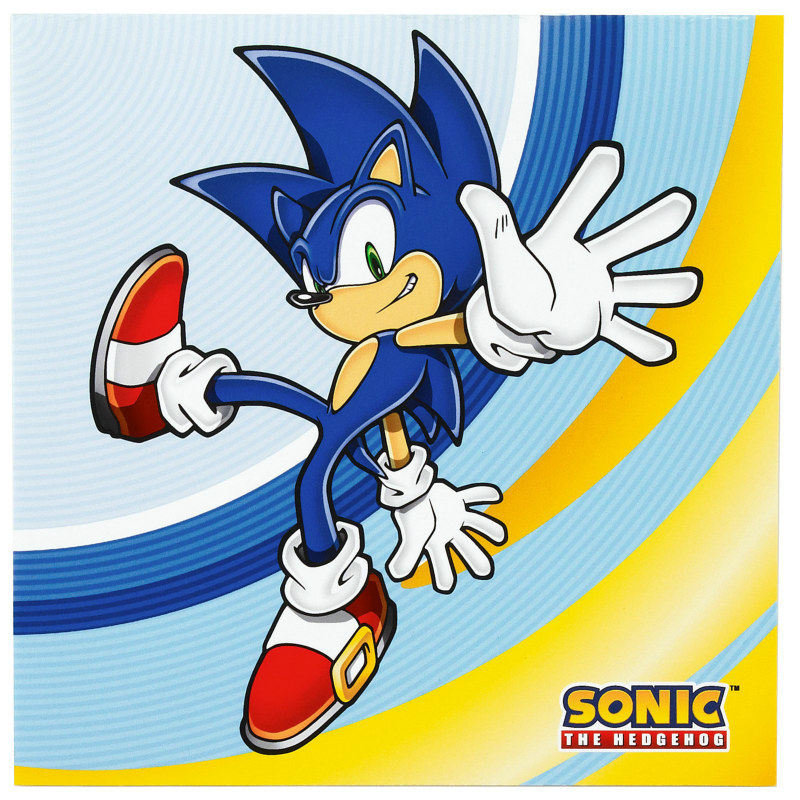 Sonic the Hedgehog Lunch Napkins (16 count)