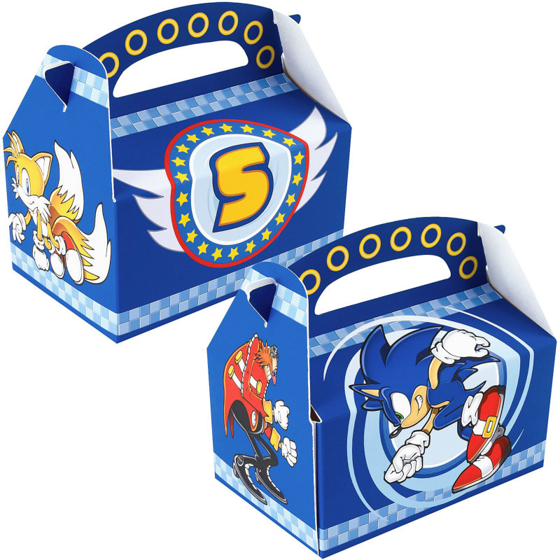 Sonic the Hedgehog Empty Favor Boxes (4 count)