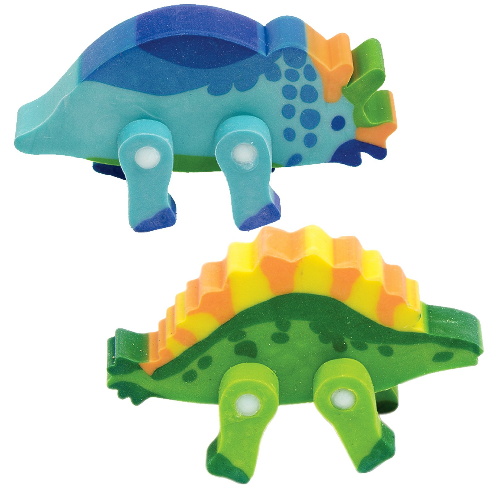 3D Dinsoaur Erasers Assorted (8 count)