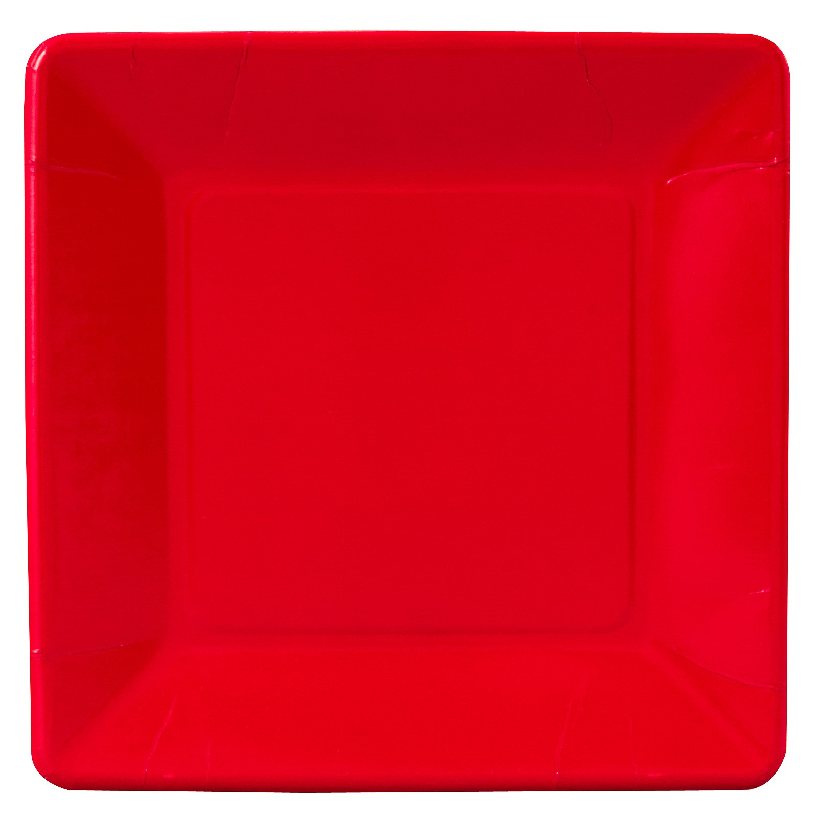 Classic Red (Red) Square Dinner Plates (18 count)