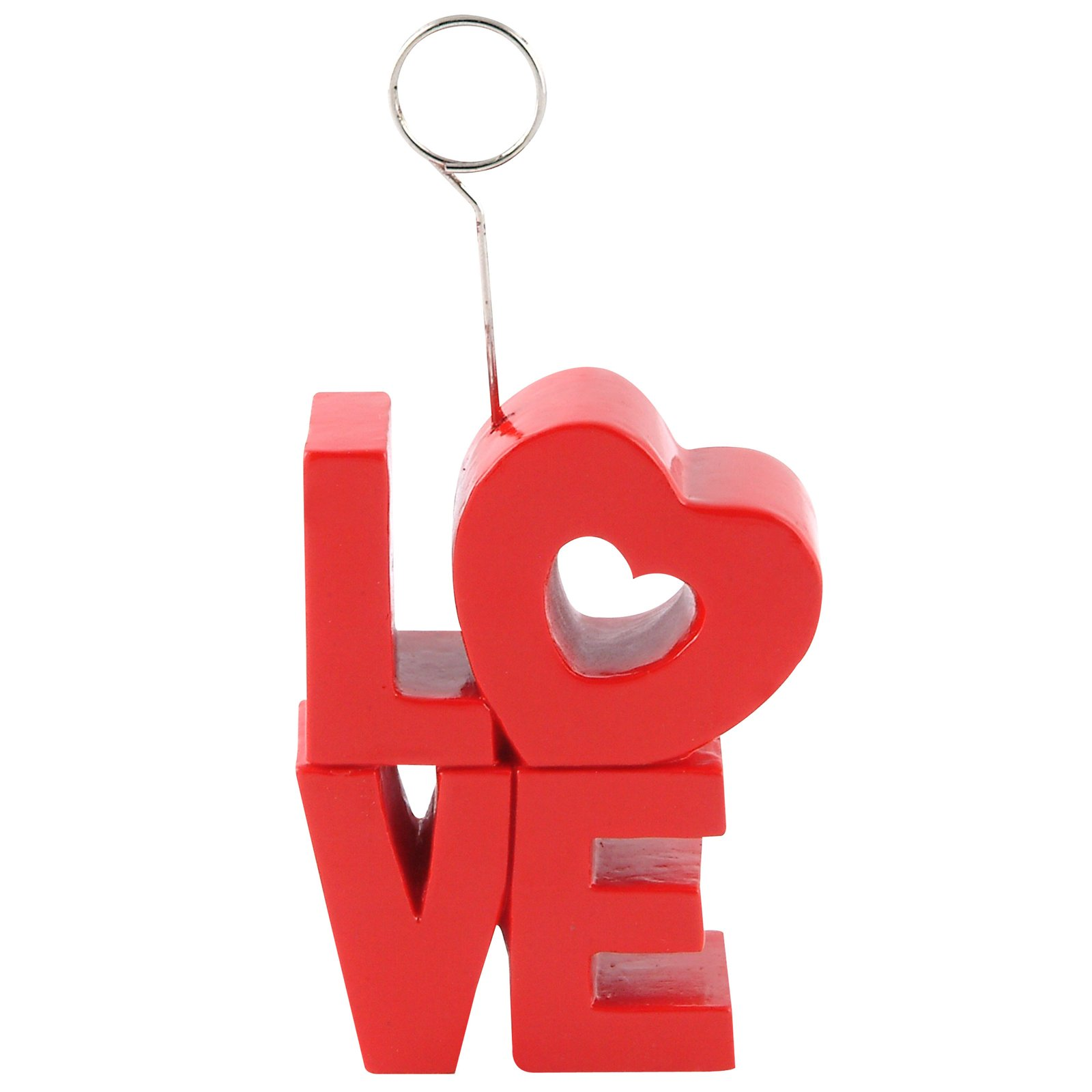 "Red ""Love"" Photo/Balloon Holder"