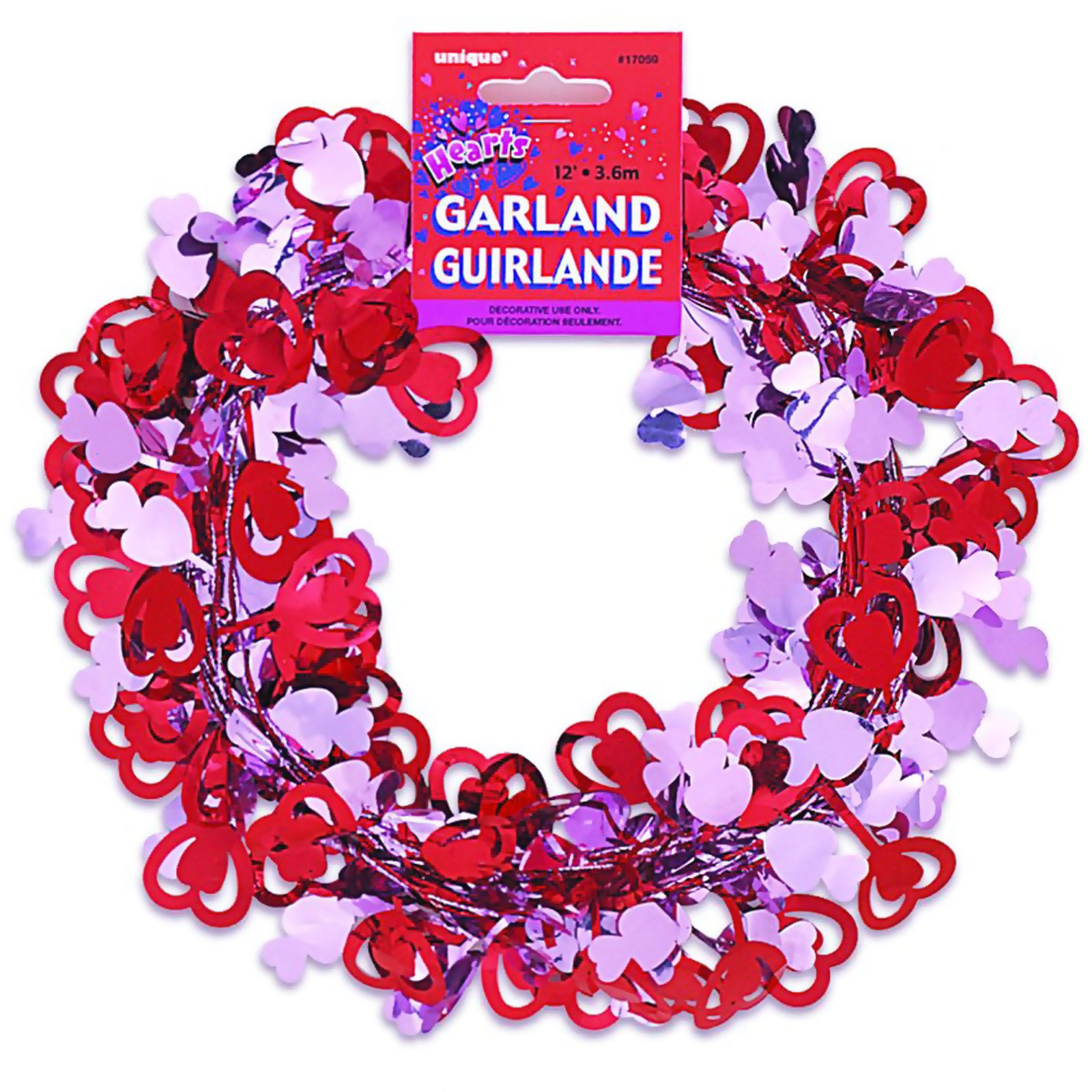 12' Hearts Wire Garland