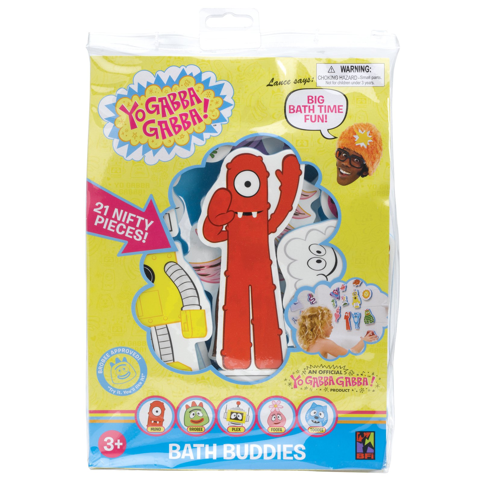 Yo Gabba Gabba Bath Buddies (21 count)