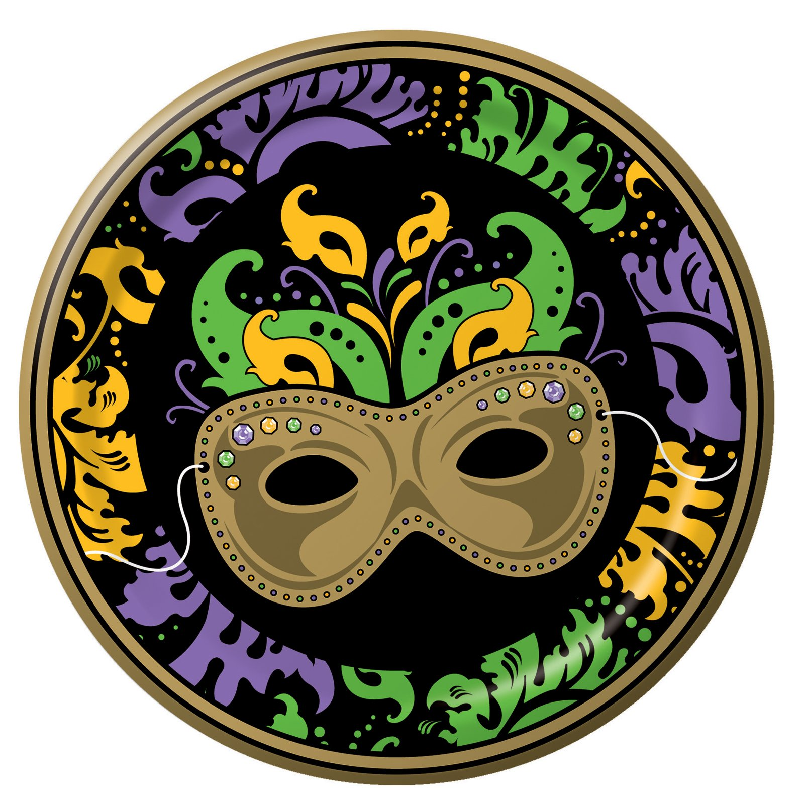 Mardi Gras Magic Dinner Plates (8 count)