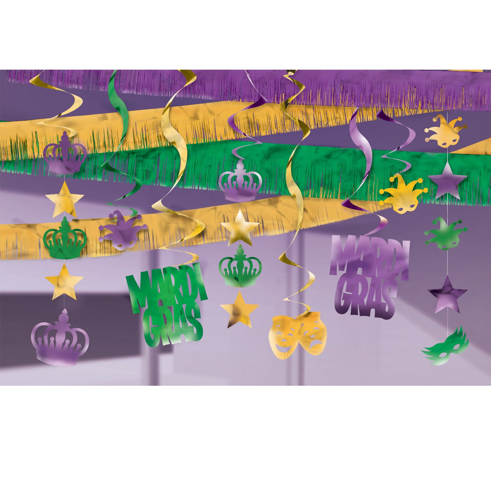 Mardi Gras Ceiling Decorating Kit