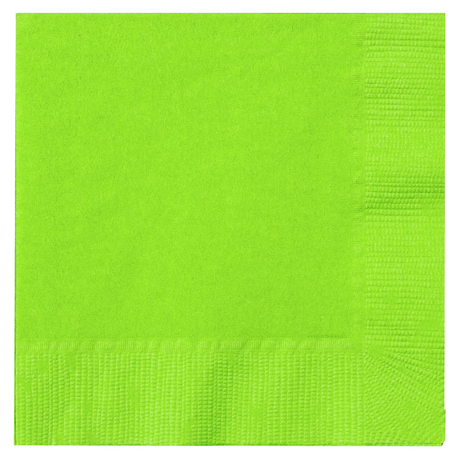 Fresh Lime (Lime Green) Beverage Napkins (50 count)