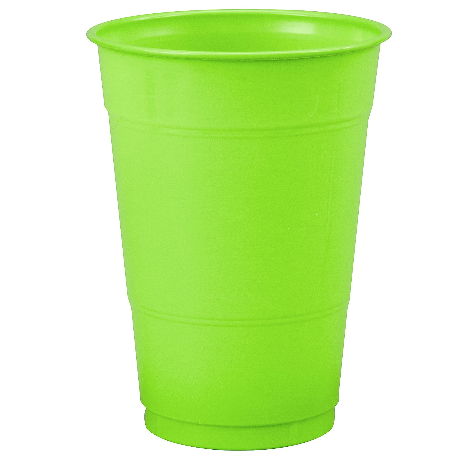 Fresh Lime (Lime Green) 16 oz. Plastic Cups (20 count)