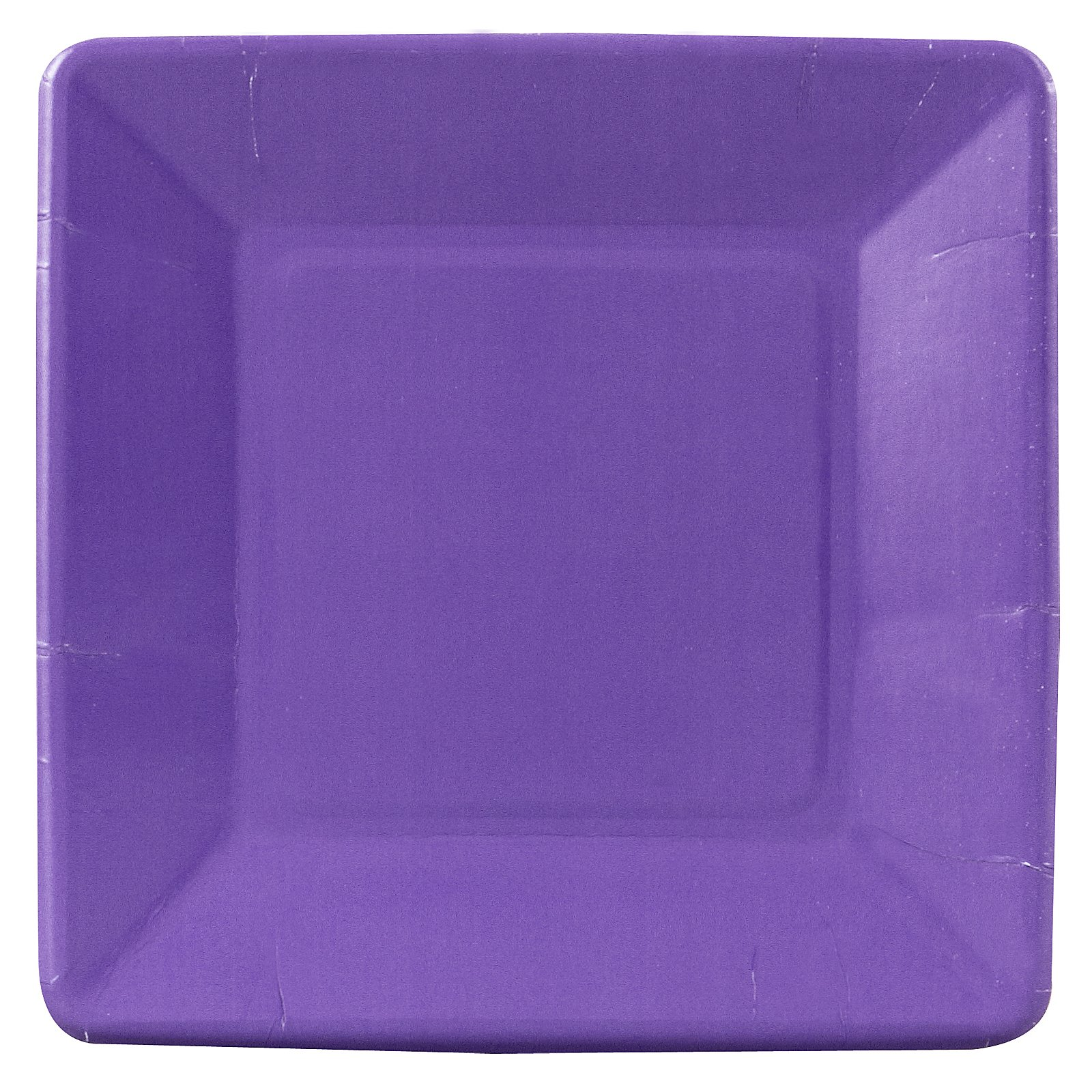 Perfect Purple (Purple) Square Dessert Plates (18 count)