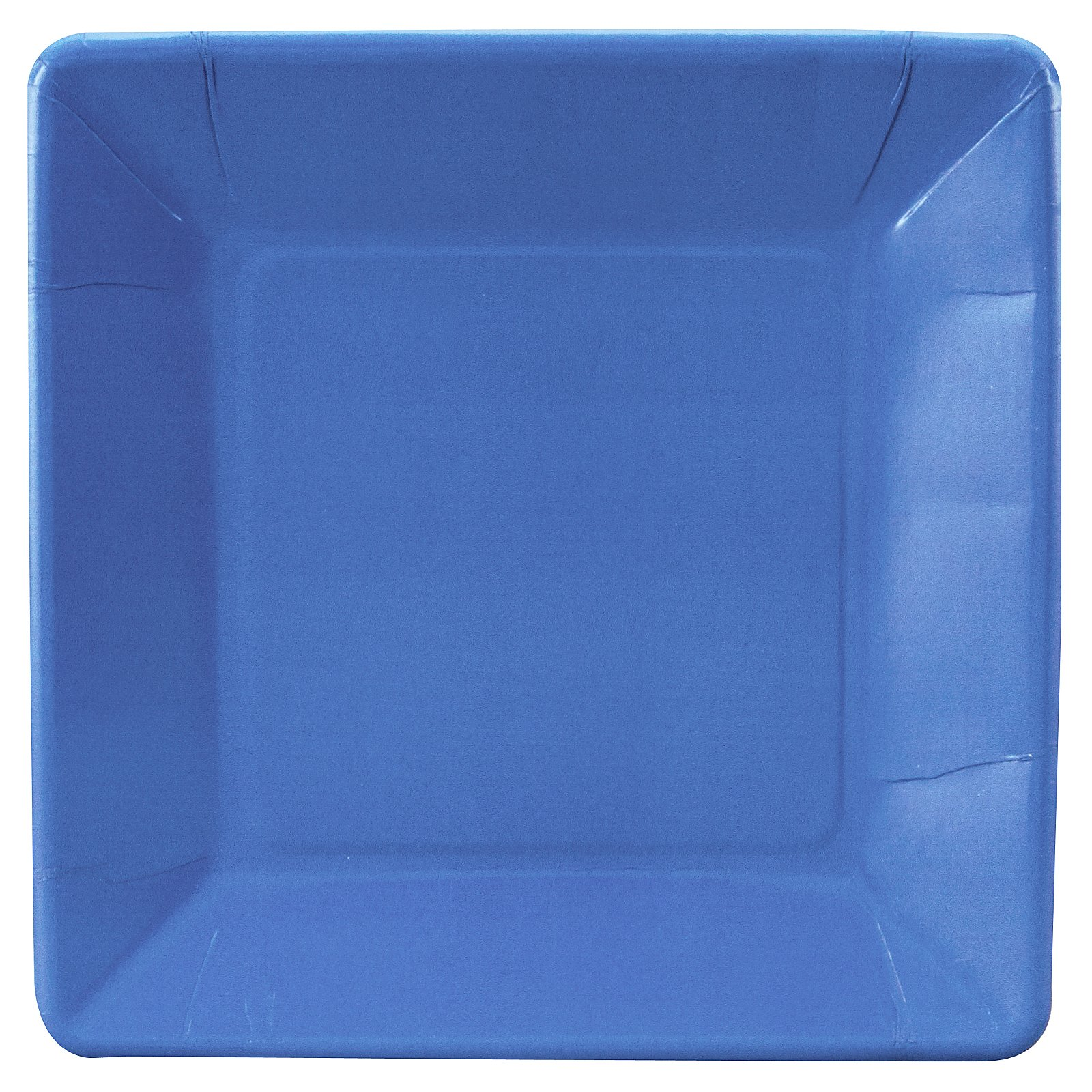 True Blue (Blue) Square Dinner Plates (18 count)