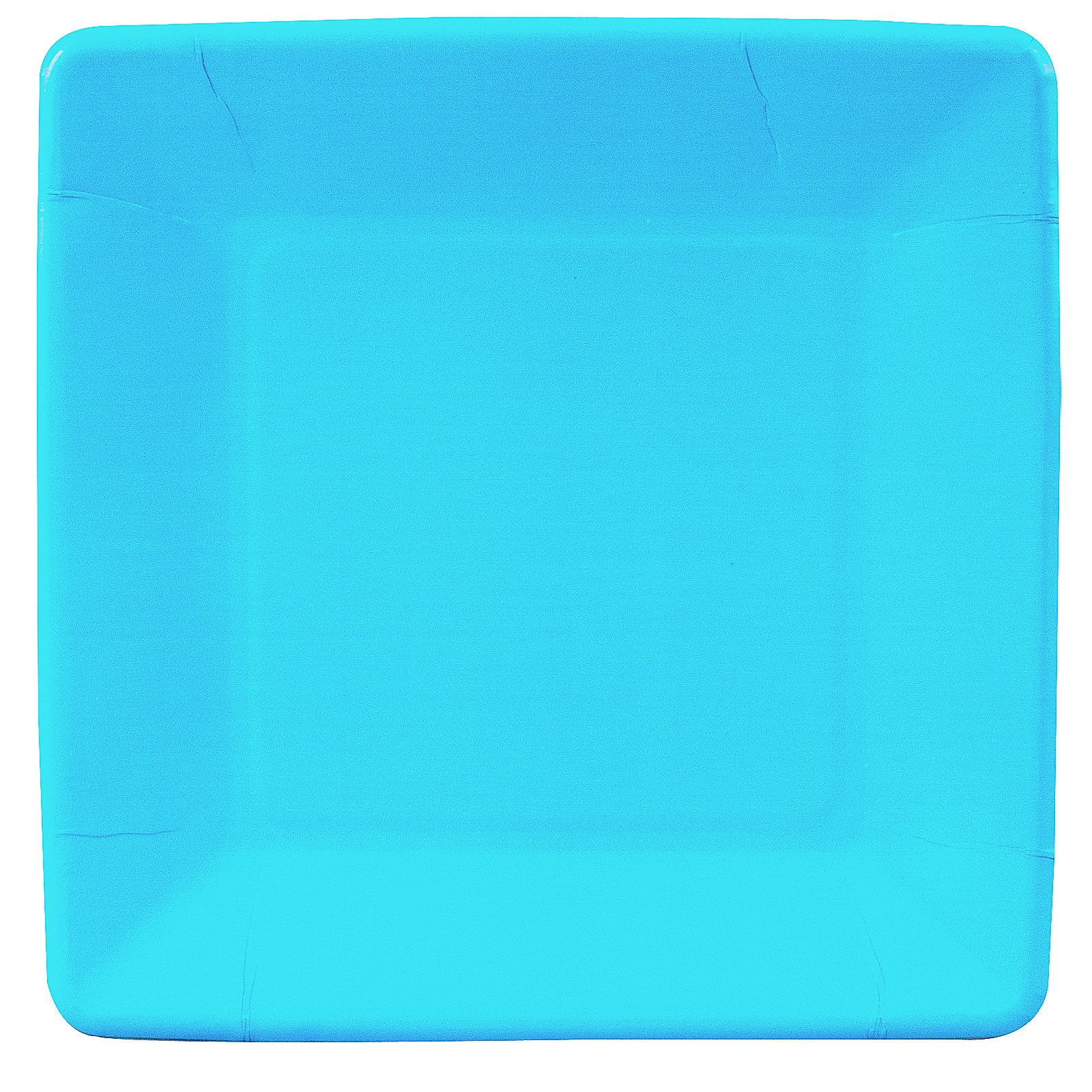 Bermuda Blue (Turquoise) Square Dinner Plates (18 count)