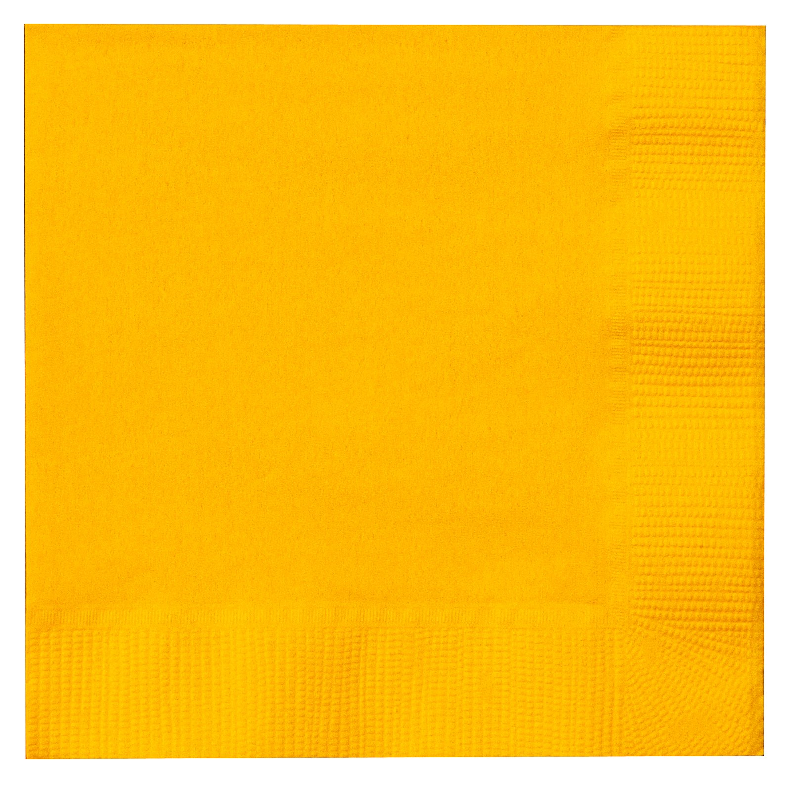 School Bus Yellow (Yellow) Beverage Napkins (50 count)