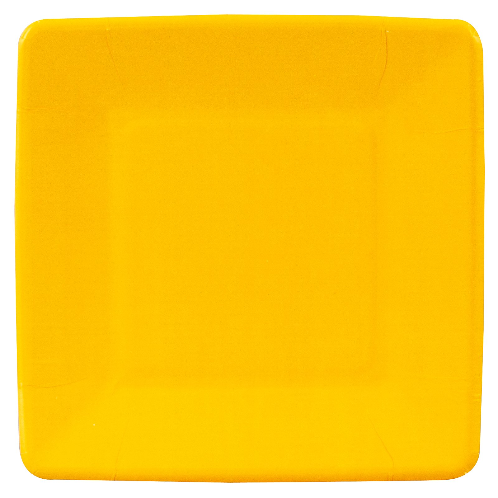 School Bus Yellow (Yellow) Square Dessert Plates (18 count)