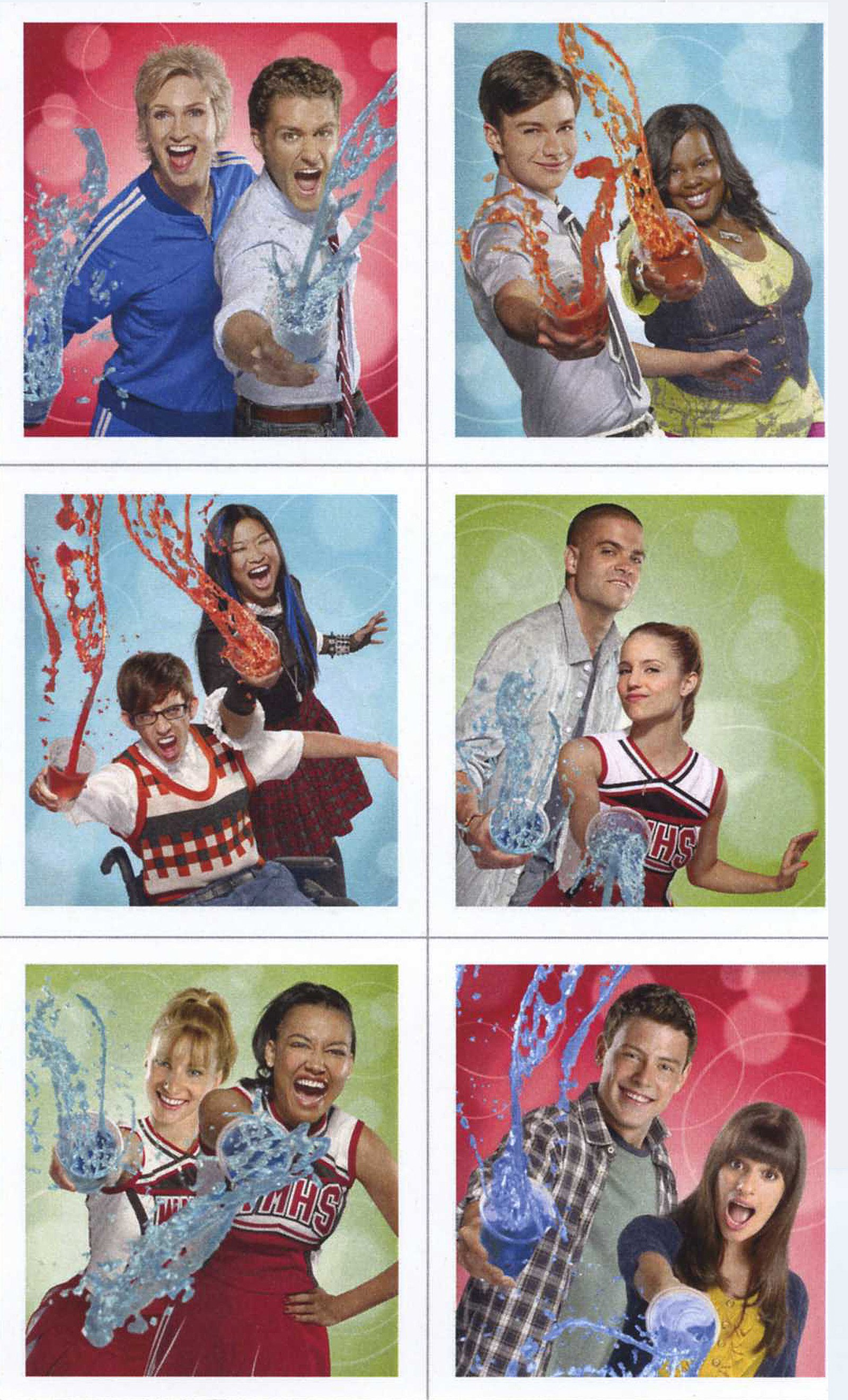 Glee Sticker Sheets (4 count)