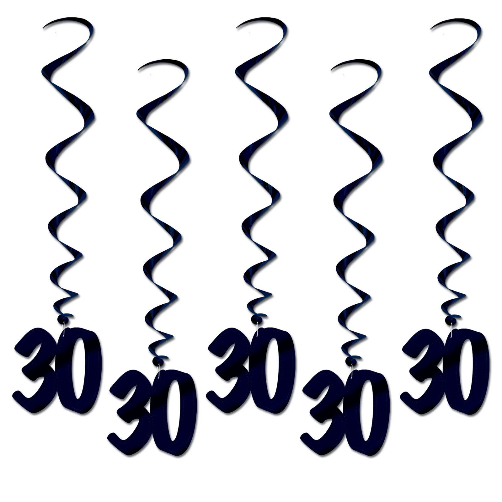 """30"" Hanging Whirls (5 count)"