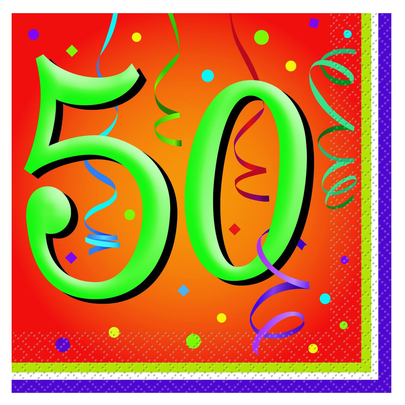 Lively Birthday 50 - Lunch Napkins (16 count)