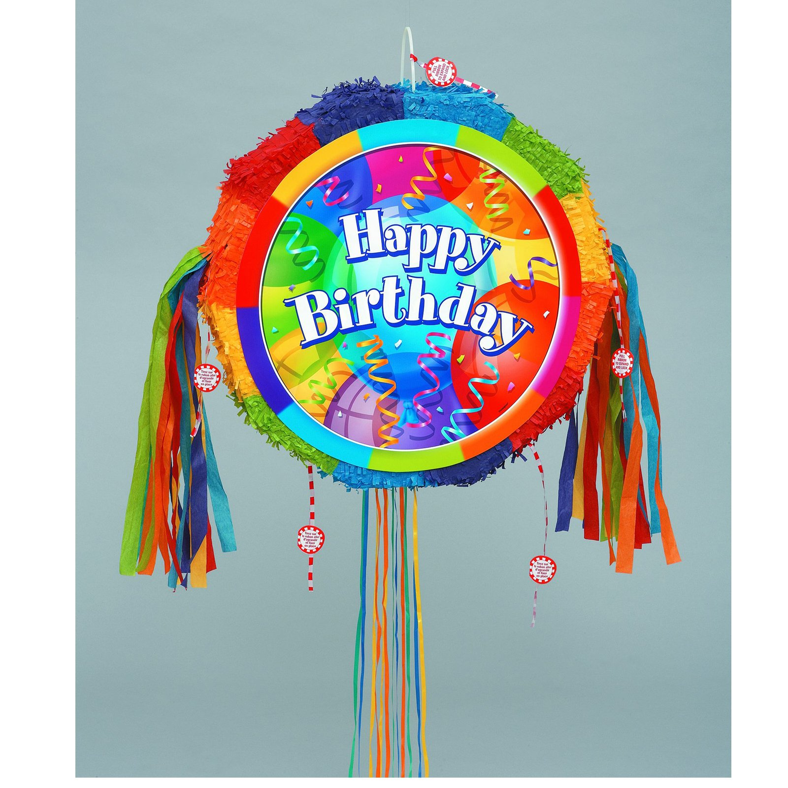 "Brilliant Birthday 18"" Pull-String Pinata"