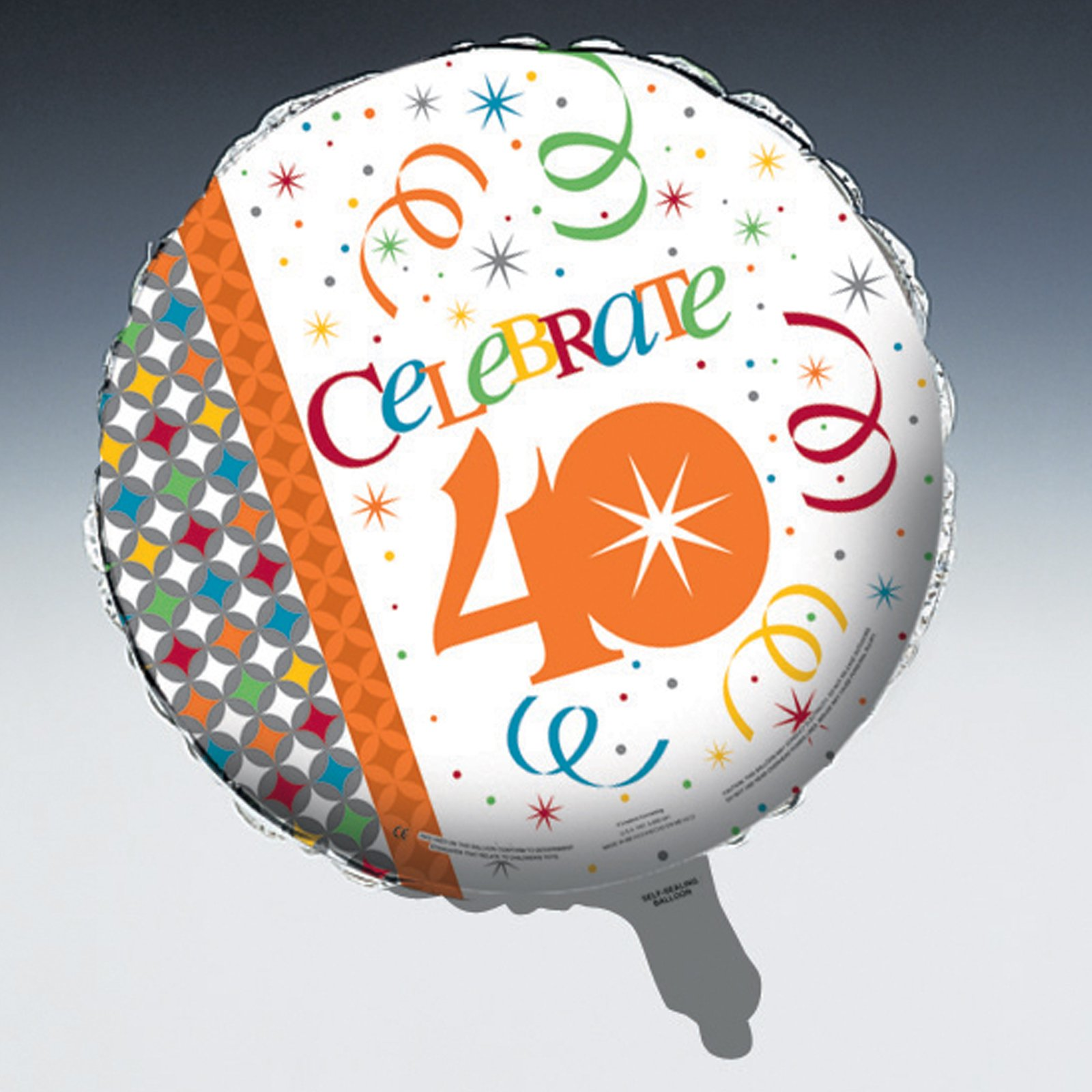 "Celebrate In Style 40 - 18"" Foil Balloon"