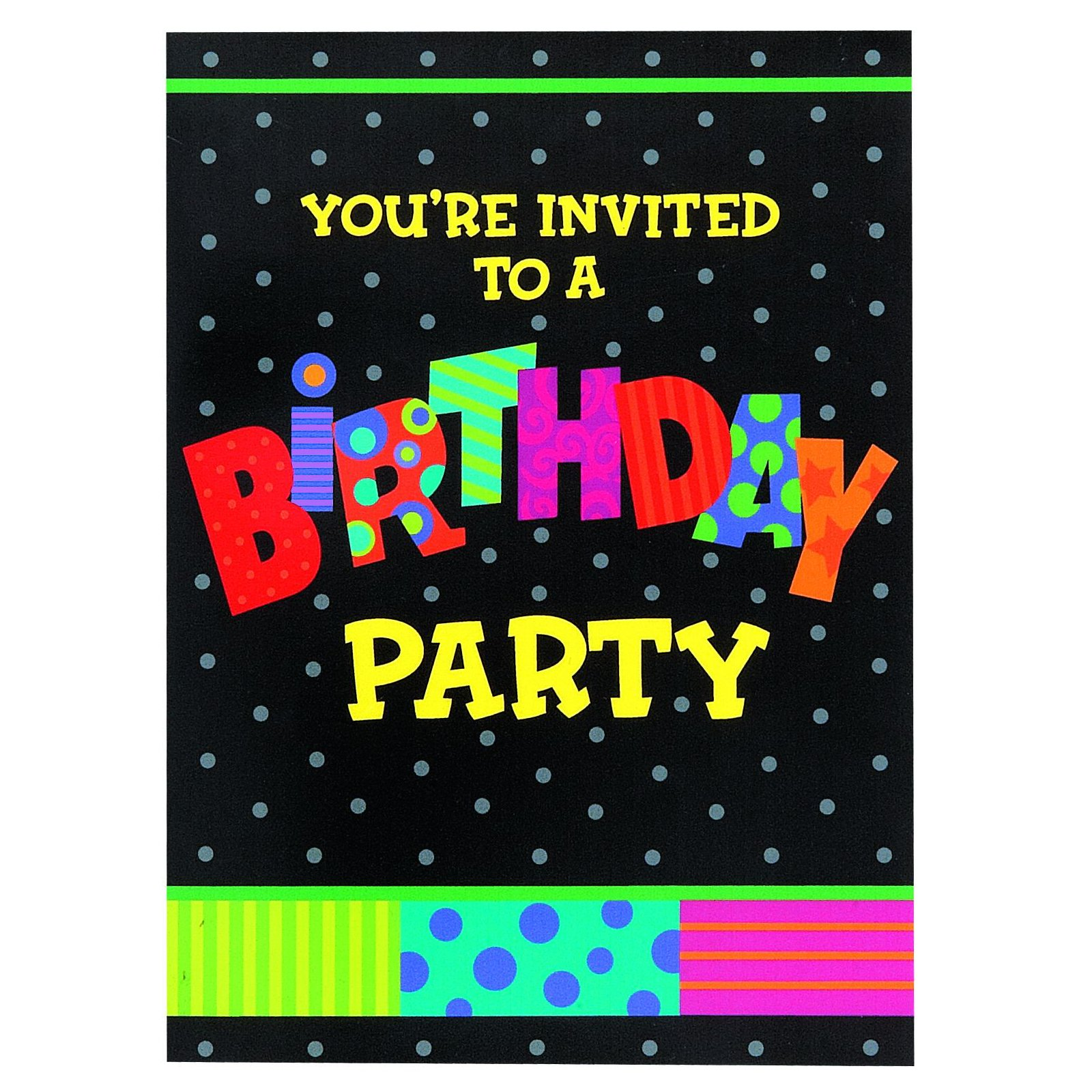 Infinite Birthday Invitations (8 count)