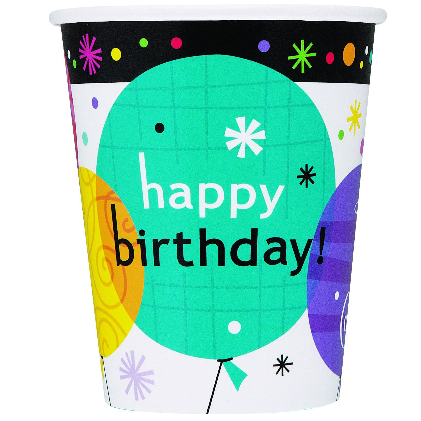 Breezy Birthday 9 oz. Paper Cups (8 count)