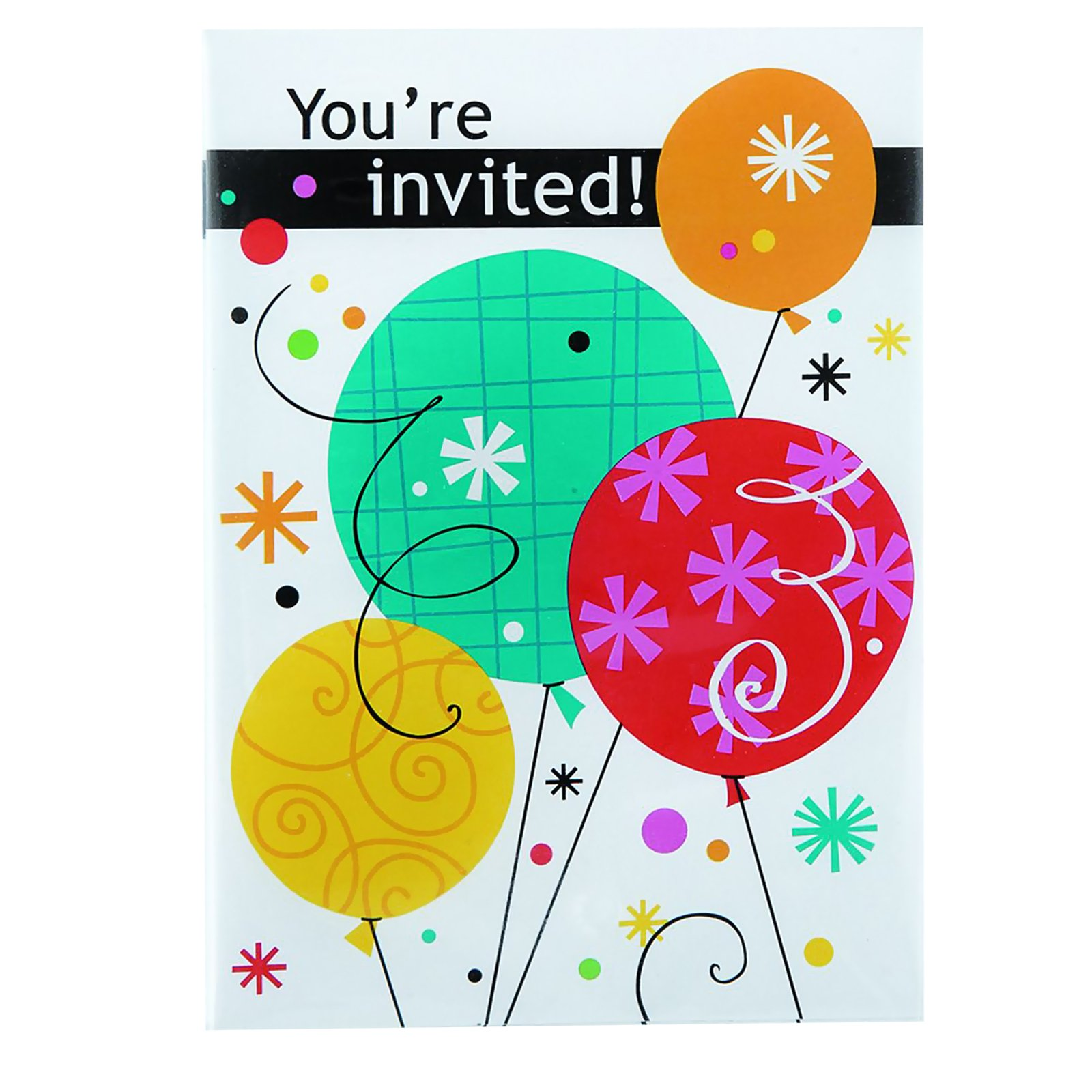 Breezy Birthday Invitations (8 count)